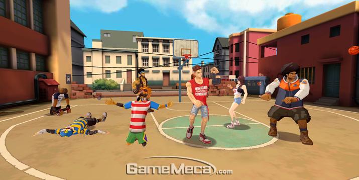힙합 스타일 길거리 농구 게임이라는 점에서 '프리스타일'이 생각났다 (사진: 게임메카 촬영)
