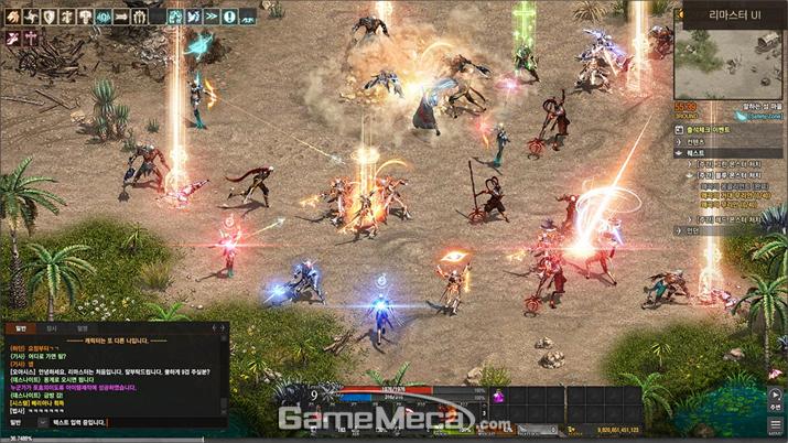 풀 HD 그래픽으로 대규모 전투의 묘미를 살렸다 (사진제공: 엔씨소프트)