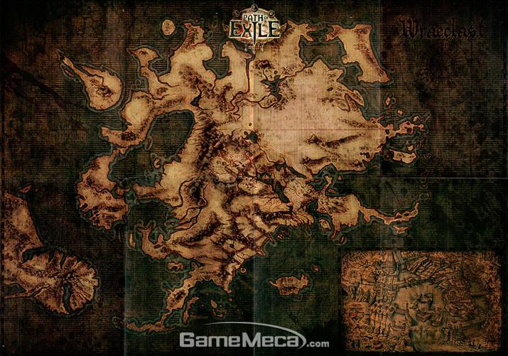 플레이어가 탐험하게 될 어둠의 대륙 '레이클라스트' (사진출처: '패스 오브 엑자일' 공식 홈페이지)