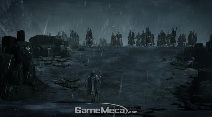 악마와 인간의 혼혈이라는 비밀을 간직한 사제 아만은 모종의 사건에 의해 주인공 곁을 떠났다 (사진출처: 게임 공식 홈페이지)