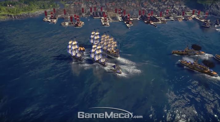 육상전이 사라진 대신 화끈한 해상전을 전개할 수 있다 (사진: 공식 영상 갈무리)