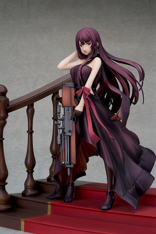 WA2000 총기를 직접 들고 있는 장면을 연출할 수 있다. 드레스도 묘사가 훌륭하다 (사진출처 : 아미아미 홈페이지)