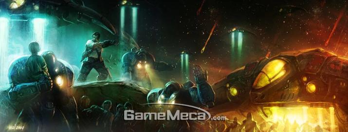 코랄 행상 사람들을 구하기 위해 고군분투하는 짐 레이너를 보라 (사진출처: 게임 공식 홈페이지)