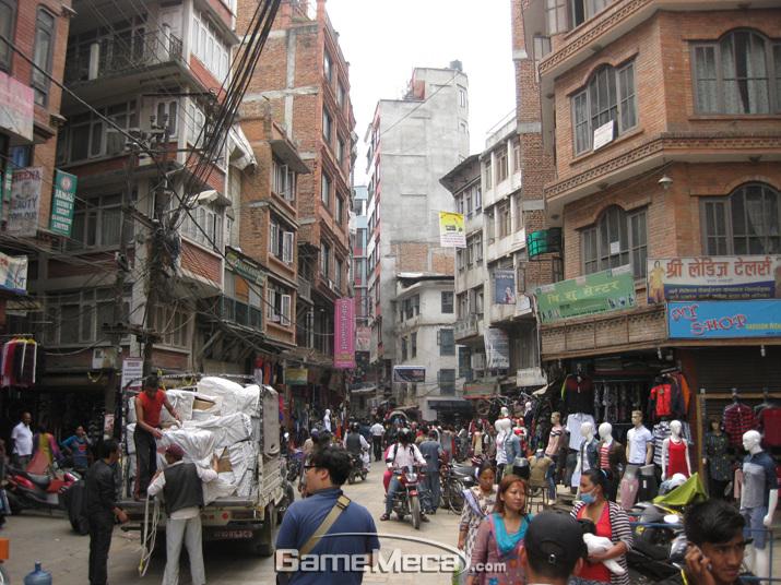 '배틀그라운드' PC와 모바일 접속이 금지된 네팔 카트만두 (사진: 게임메카 촬영)