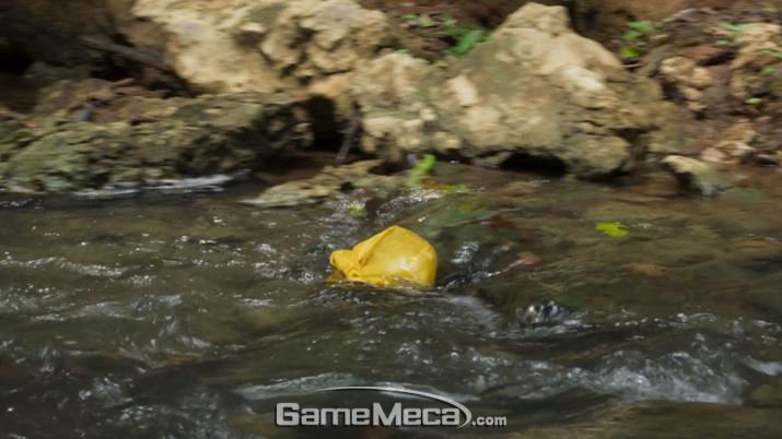 실수로 놓친 의약품이 유유히 사라지고 있다 (사진: 게임메카 촬영)
