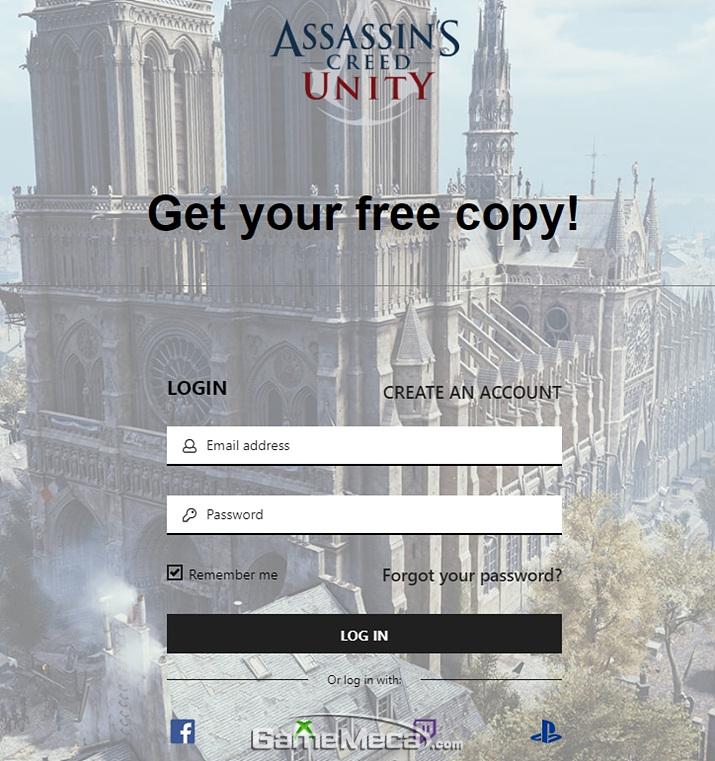 '어쌔신 크리드: 유니티'를 1주일 간 무료로 다운로드 받을 수 있다 (사진출처: 유비소프트 공식 홈페이지)