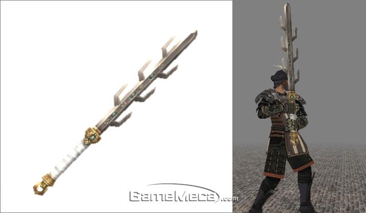 '파이널 판타지 11'에는 실제 삼국시대에 무기로 쓰였을 것만 같은 칠지도가 등장한다 (사진출처: 파이널 판타지 팬 위키)