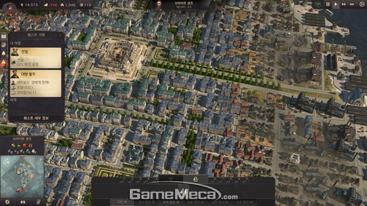 텅 빈 섬을 이런 수준의 도시를 만드는 것이 목표다 (사진: 게임메카 촬영)