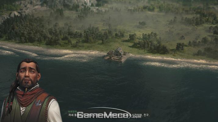 게임은 이렇게 항구 하나만 있는 텅 빈 섬에서 시작한다 (사진: 게임메카 촬영)