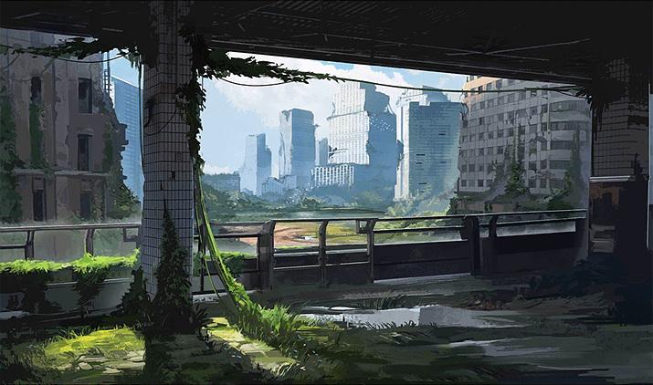 지표면 대부분이 인간이 살 수 없는 땅이 되고 말았다 (사진출처: '소녀전선' 위키)