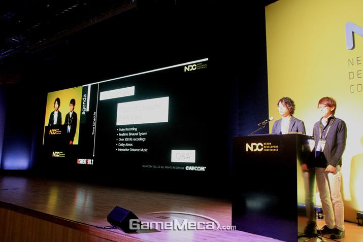 '바이오하자드 RE:2' 사운드 디자이너가 NDC에서 강연을 진행했다 (사진: 게임메카 촬영)