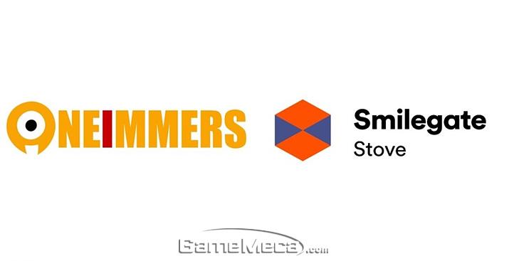 VR 서비스 제휴를 맺은 원이멀스와 스마일게이트 스토브 (사진제공: 와이제이엠게임즈)