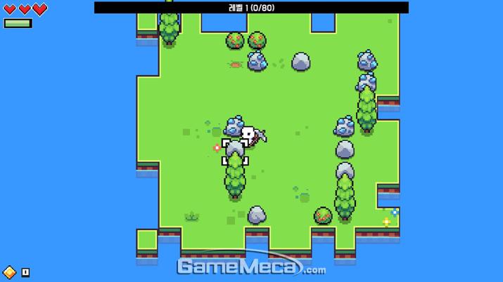 작은 섬 하나에서 게임을 시작하게 된다 (사진: 게임메카 촬영)