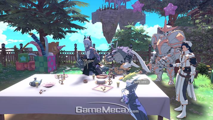 같이 가족처럼 식사를 하는 것도 가능하다 (사진: 게임메카 촬영)