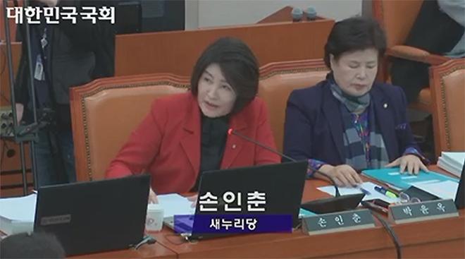 2013년 게임업계 매출 강제징수 법안을 낸 손인춘 의원 (사진출처: 국회 의사정보시스템 갈무리)