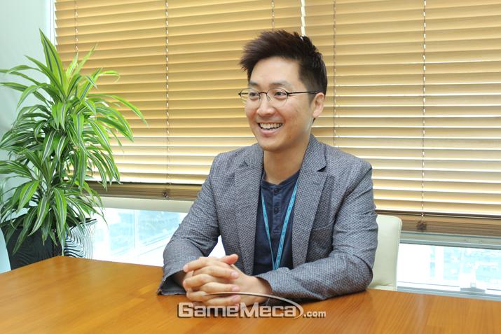 넷마블 김준성 본부장과 만나 '킹오파 올스타'의 흥행 비결에 대해 들어봤다 (사진: 게임메카 촬영)