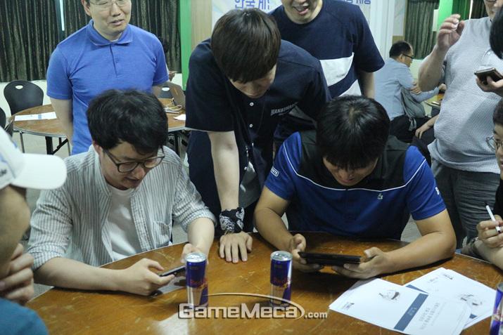 불꽃튀는 결승전의 현장 (사진: 게임메카 촬영)