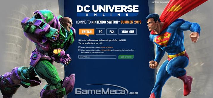 닌텐도 스위치로 나오는 'DC 유니버스 온라인' (사진출처: 게임 공식 홈페이지)