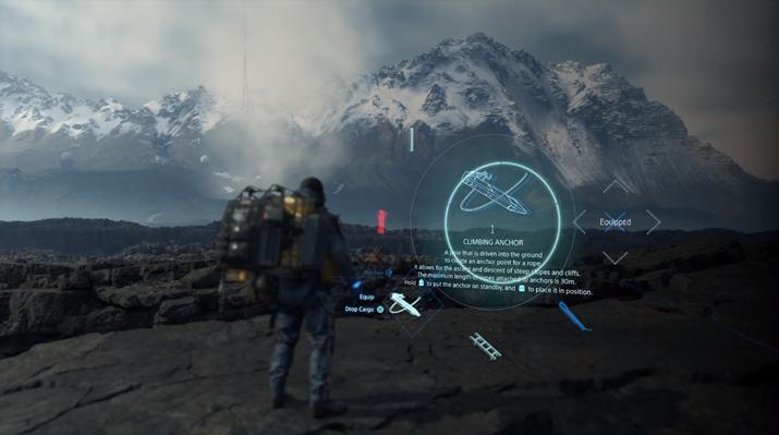 등산용 닻을 이용해 절벽 밑을 탐험할 수도 있다 (사진출처: 게임 공식 트레일러 갈무리)