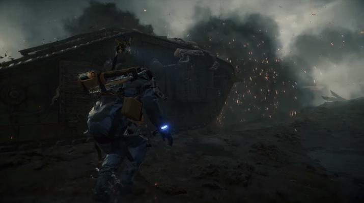 전차를 끌고 나오는 BT도 있다 (사진출처: 게임 공식 트레일러 갈무리)