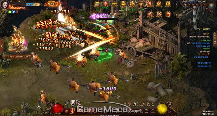 시원스런 타격감이 느껴지는 전투장면 연출 (사진: 게임메카 촬영)