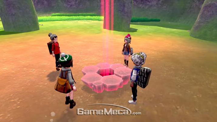 다른 플레이어와 만나서 함께 모험을 즐길 수도 있다 (사진출처: 포켓몬 다이렉트 생방송 갈무리)