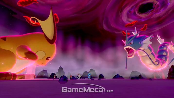 유저의 포켓몬도 거대화 시킬 수 있다 (사진출처: 포켓몬 다이렉트 생방송 갈무리)