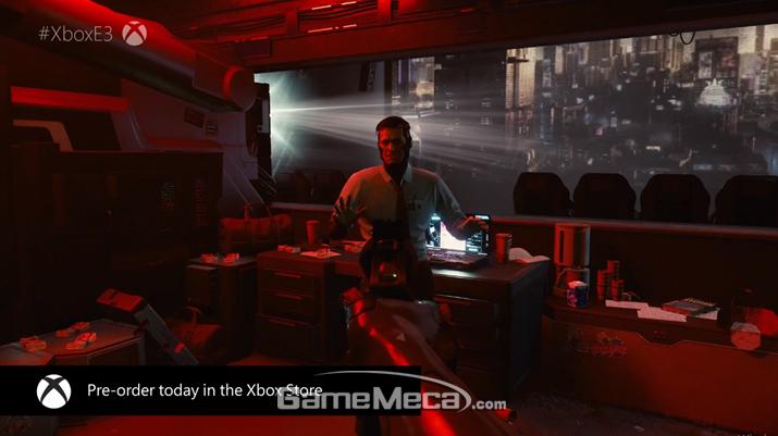키아누 리브스가 직접 등장해 화제를 모았다 (사진출처: MS E3 2019 브리핑 생중계 갈무리)