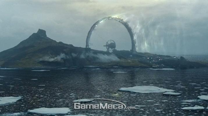 이상한 구조물이 곳곳에 세워져 있는 기묘한 섬 '블랙리프' (사진출처: 게임 공식 영상 갈무리)