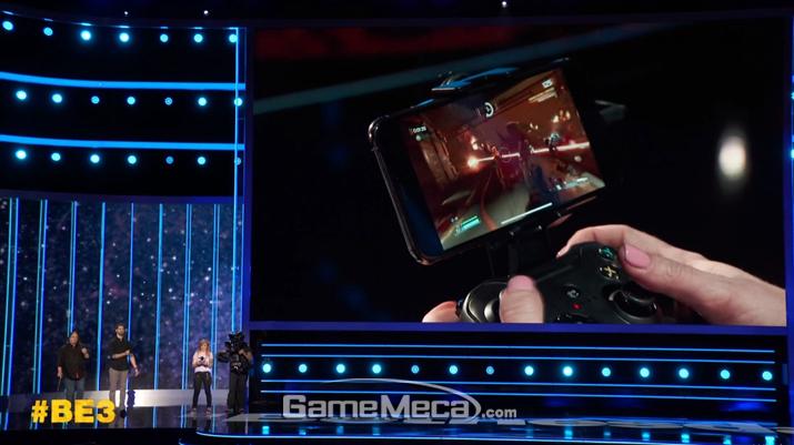 E3 현장에서 그 기술력을 직접 무대에서 선보인 바 있다 (사진출처: 베데스다 E3 컨퍼런스 갈무리)