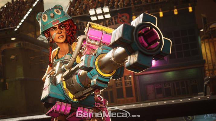 원거리 공격과 터렛을 사용하며, 거대 로봇 변신 궁극기를 지닌 기즈모 (사진출처: 공식 홈페이지)