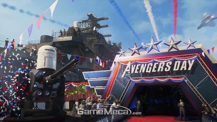 어벤져스 결성을 축하하는 자리에서 (사진출처: 스퀘어에닉스 E3 쇼케이스 생방송 갈무리)
