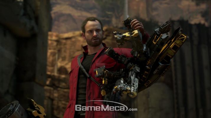 '앤트맨'으로 활약하게 될 행크 핌도 등장 (사진출처: 스퀘어에닉스 E3 쇼케이스 생방송 갈무리)