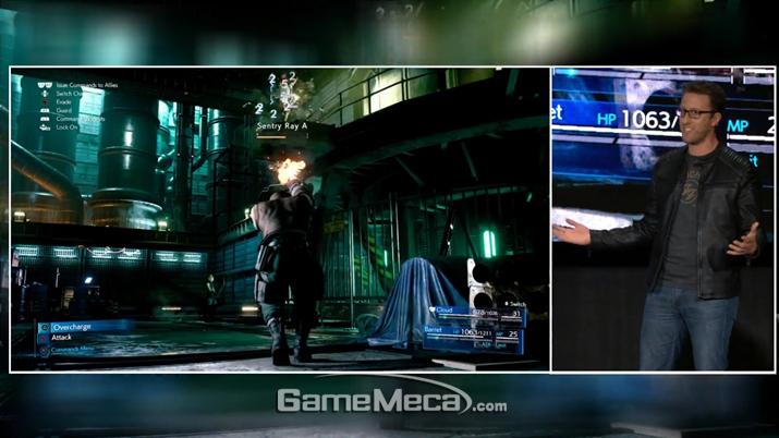 택티컬 모드를 통해 실시간으로 마법이나 아이템을 사용할 수 있다 (사진출처: 스퀘어에닉스 E3 쇼케이스 갈무리)
