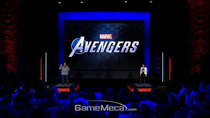 행사의 말미를 멋지게 장식한 '어벤져스' (사진출처: 스퀘어에닉스 E3 쇼케이스 갈무리)