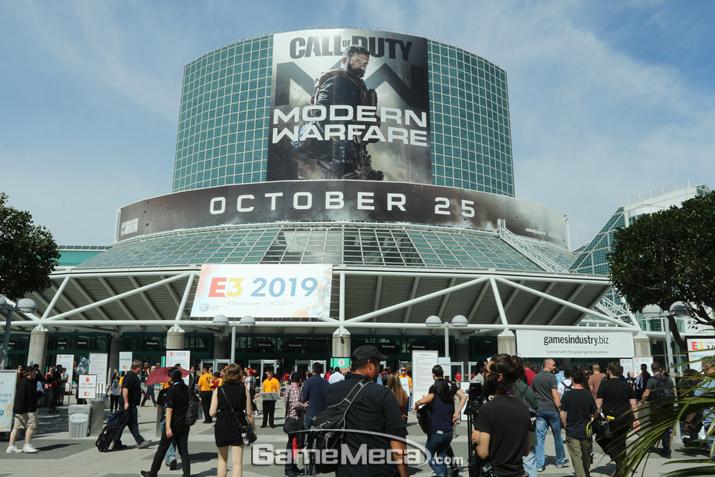 'E3 2019'가 개막한 미국 LA의 LA 컨벤션센터 전경 (사진: 게임메카 촬영)