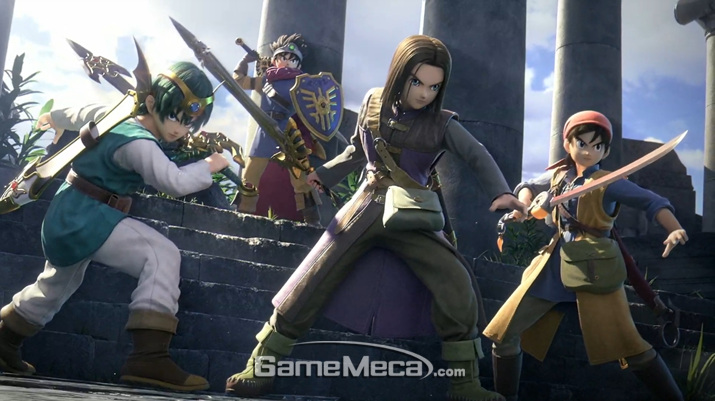 '드래곤 퀘스트' 주인공들이 '슈퍼 스매시브라더스 얼티밋'에 참전한다 (사진출처: 닌텐도 E3 2019 다이렉트 생방송 갈무리)