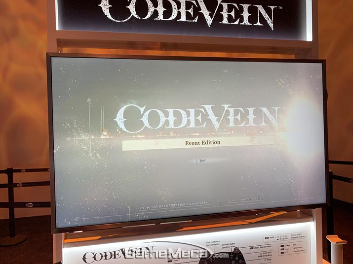 'E3 2019' 반다이남코 부스에 선보여진 '코드 베인' (사진: 게임메카 촬영)