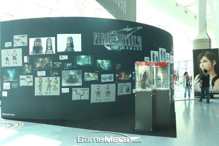 올해 E3 최고 화제작 중 하나인 '파판7 리메이크' 전시 부스도 있다 (사진: 게임메카 촬영)