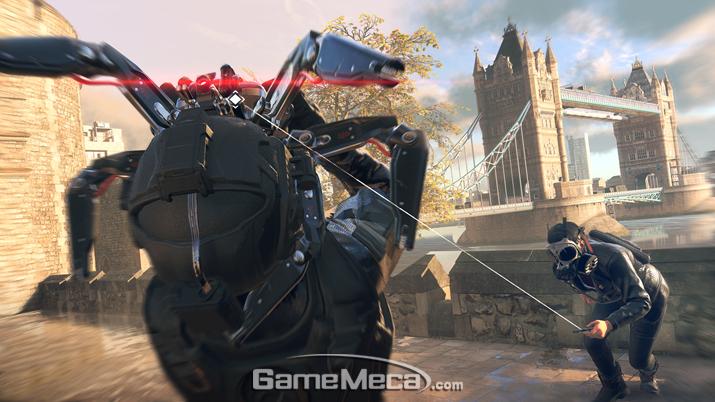 거미 로봇을 통해 적을 공격하고 각종 행위를 할 수 있는 '해커' (사진제공: 유비소프트)