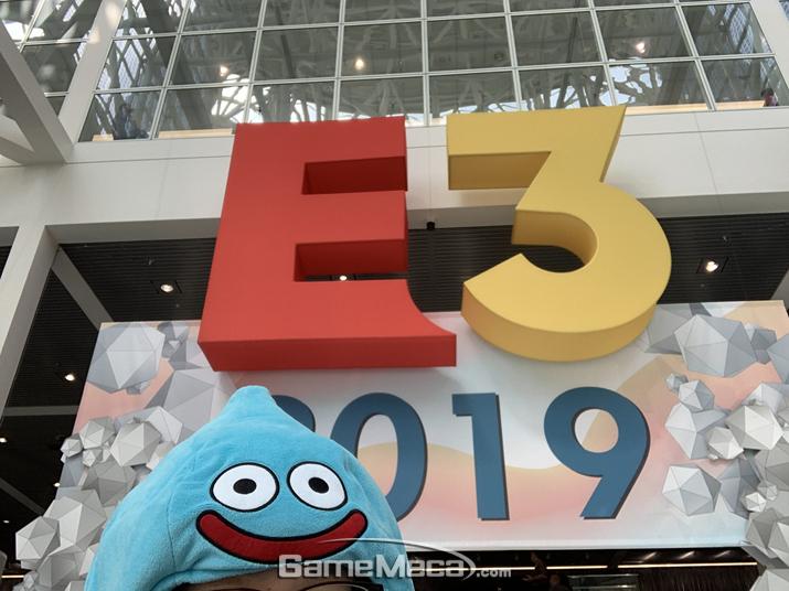야호! E3다!!! 완전 신나!!! (사진: 슬라임 촬영)