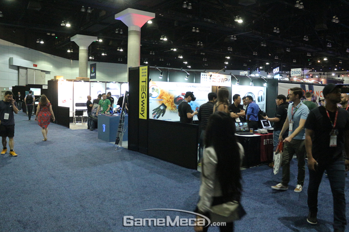 각종 게임 관련 업체들 부스가 꽉 차 있는 E3 2019 현장 (사진: 게임메카 촬영)