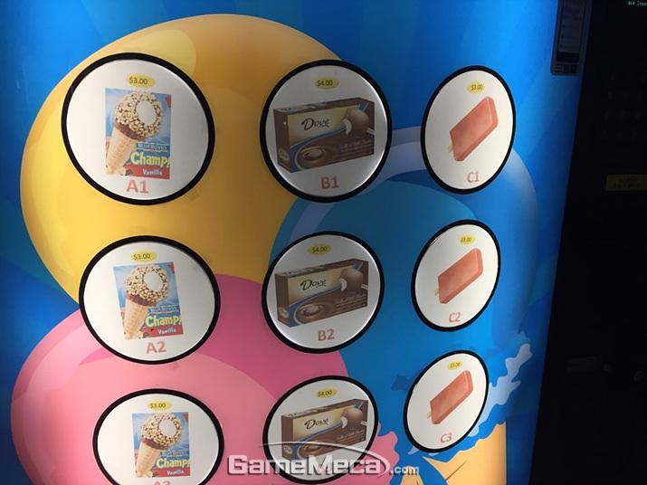 아이스크림 자판기는 우리나라에 별로 없어서인지 항상 신기하군요 (사진: 게임메카 촬영)