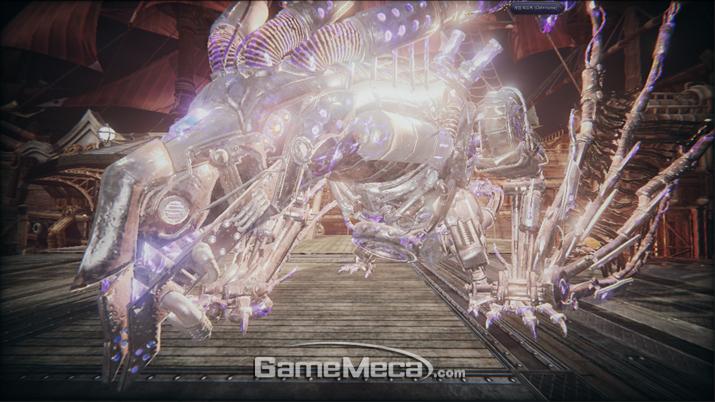 삐까번쩍한 용까지 한 시간 마다 핵심적인 보스전을 치르게 된다 (사진: 게임메카 촬영)