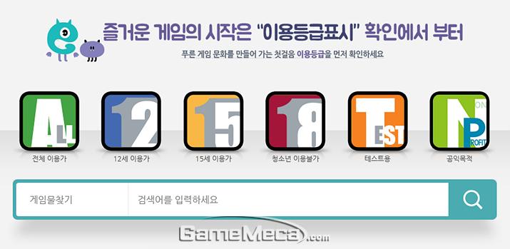 국내에서 서비스되는 게임들은 사전심의를 받아야 한다 (사진출처: 게임물관리위원회 홈페이지)