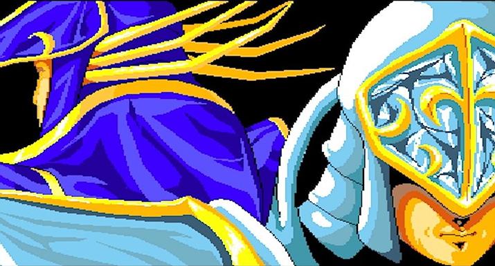 어둠의 왕 '보젤'과 빛의 왕 '지크하르트'의 대립을 중심으로 진행된 '엘스리드' 시리즈 (사진출처: Old Game Box)