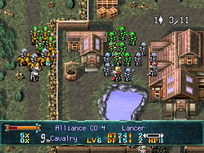 직관적이지 못한 턴 회전 시스템이 아쉬웠던 '랑그릿사 4' (사진출처: Sega Retro)