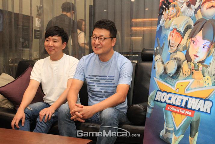 왼쪽부터 조혁신 실장, 장윤호 대표 (사진: 게임메카 촬영)