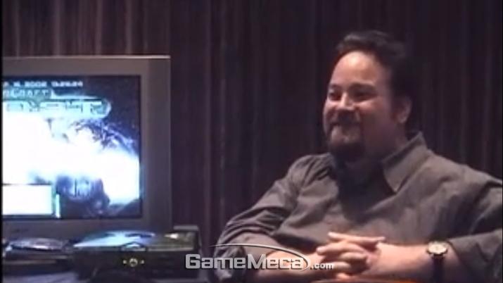17년 전 빌 로퍼의 '스타크래프트 고스트' 인터뷰 이미지 (사진촬영: 게임메카)