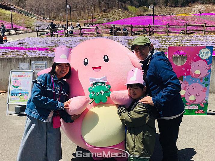 지난 2월부터 후쿠시마 지역 홍보에 한창인 포켓몬스터 '럭키' (사진출처: 후쿠시마 관광청 홈페이지)